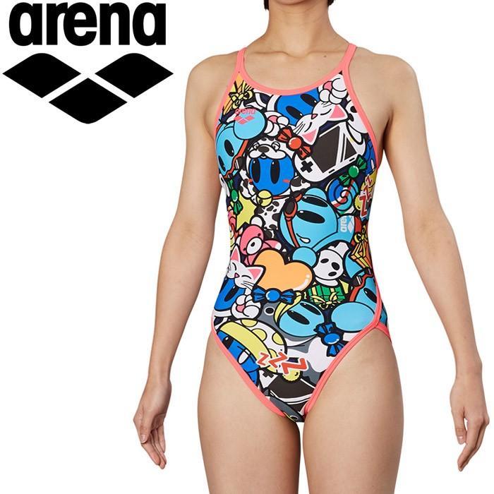 アリーナ 水泳 スーパーフライバック トレーニング 水着 レディス FSA-9617W-PNK