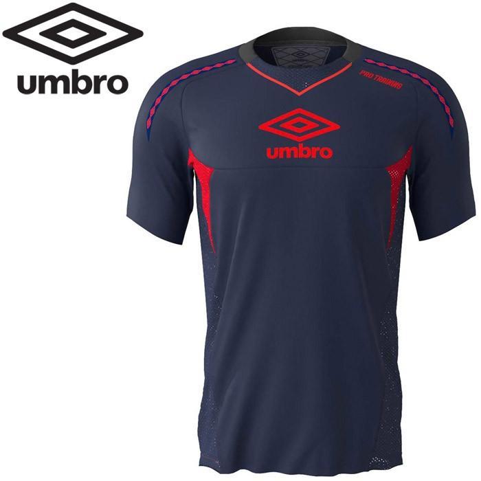 アンブロ サッカー PRO-TRパフォーマンスS/Sシャツ UUUNJA50-NVY ゆうパケット配送