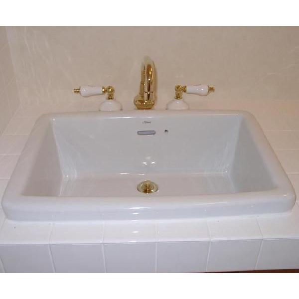 陶器スクエアラージ/カウンターはめこみ手洗い器