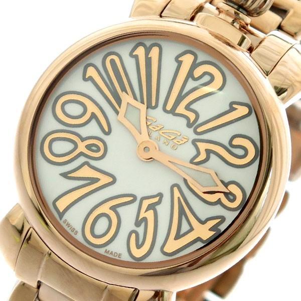 【開店記念セール!】 ガガミラノ GAGA MILANO マニュアーレ MANUALE 35mm レディース 腕時計 6021.1 ホワイト ピンクゴールド ホワイト, オートウェアー 56f79b61