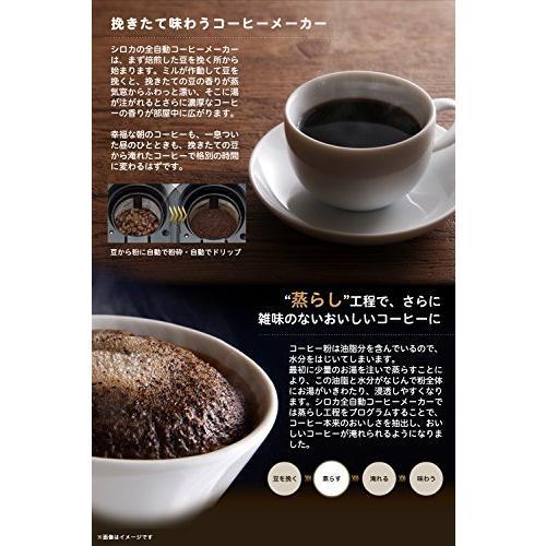 siroca 全自動コーヒーメーカー SC-A221 ステンレスシルバー 新ブレード搭載 [ガラスサーバー/静音/粒度均一/ミル内蔵4段階/豆・粉両対|anr-trading|07