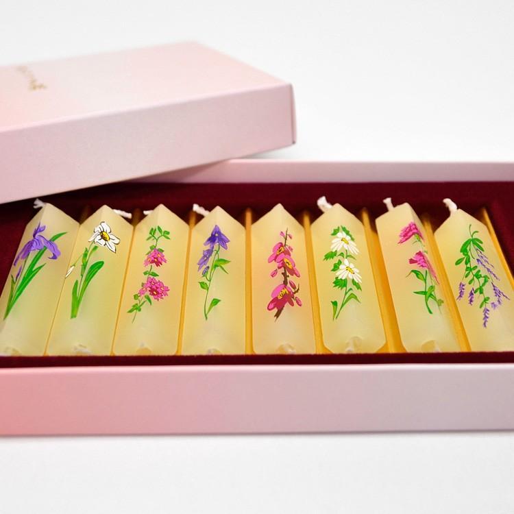 みつろう夕霧 花てまり 日本製 燃焼時間約80分 絵ろうそく 四季のお花 ローソク 蜜蝋 ろうそくお供え 特売 1個までネコポス対応 蝋燭 喪中見舞い ついに入荷 お彼岸 蜜蝋入り蝋燭