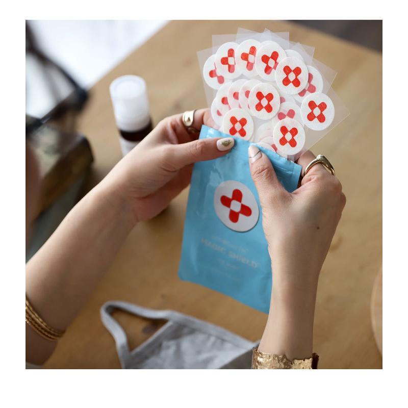 メール便可 マスク シール マジックシールド パッチ 30枚入り 日本製 国産 除菌 消臭 プレゼント|antiqcafe|08