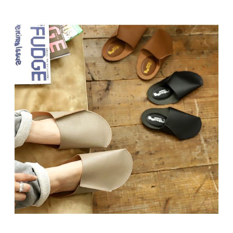 スリッパ レザー 革 パンプス 靴 お洒落 レディース ギフト アンティカフェ メール便不可 antiqcafe 15