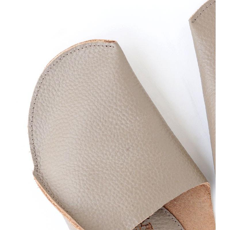 スリッパ レザー 革 パンプス 靴 お洒落 レディース ギフト アンティカフェ メール便不可 antiqcafe 16