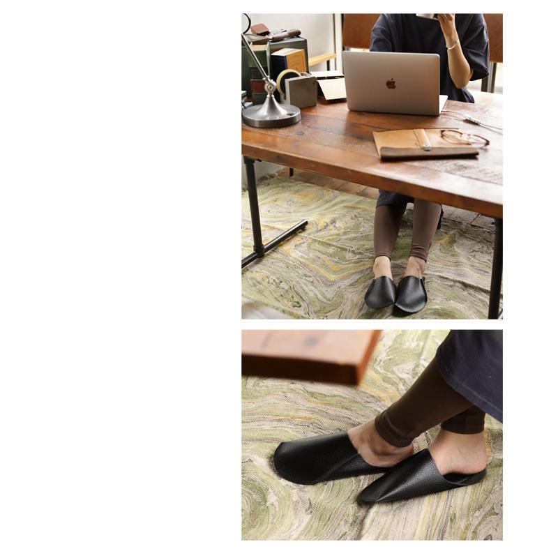 スリッパ レザー 革 パンプス 靴 お洒落 レディース ギフト アンティカフェ メール便不可 antiqcafe 20