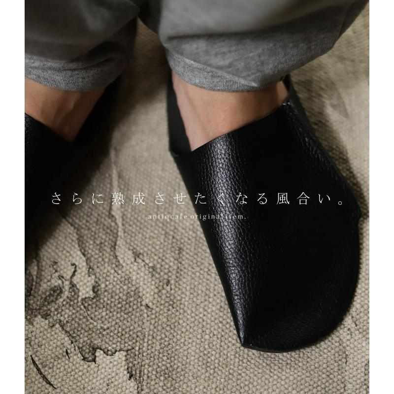 スリッパ レザー 革 パンプス 靴 お洒落 レディース ギフト アンティカフェ メール便不可 antiqcafe 21