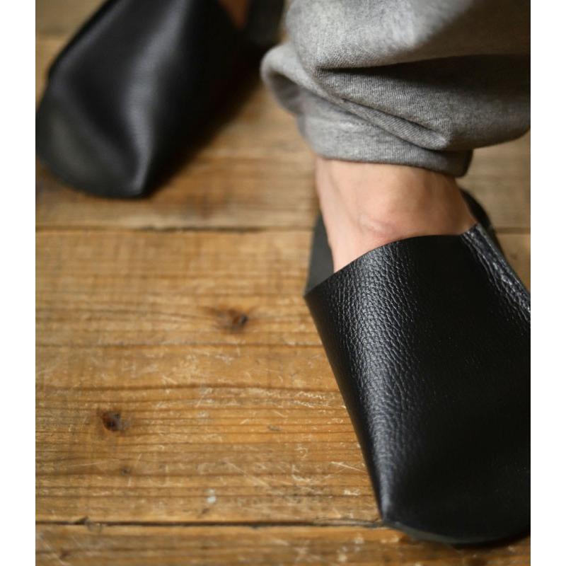 スリッパ レザー 革 パンプス 靴 お洒落 レディース ギフト アンティカフェ メール便不可 antiqcafe 06
