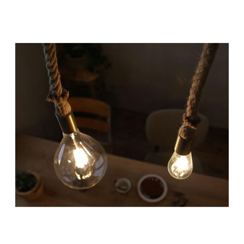 ダクトレール用 麻縄ロープ E26 1灯ペンダントライト LED対応 天井照明 アンティカフェ antiqcafe 14