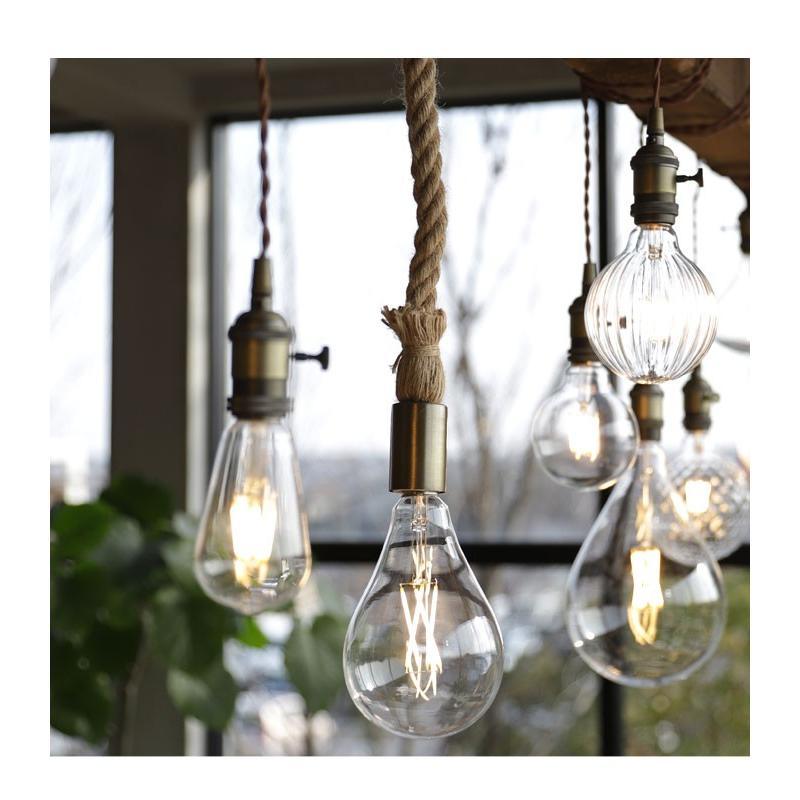 ダクトレール用 麻縄ロープ E26 1灯ペンダントライト LED対応 天井照明 アンティカフェ antiqcafe 16