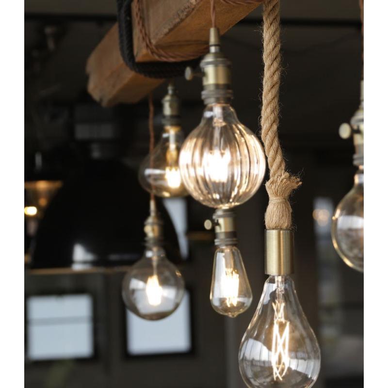 ダクトレール用 麻縄ロープ E26 1灯ペンダントライト LED対応 天井照明 アンティカフェ antiqcafe 03