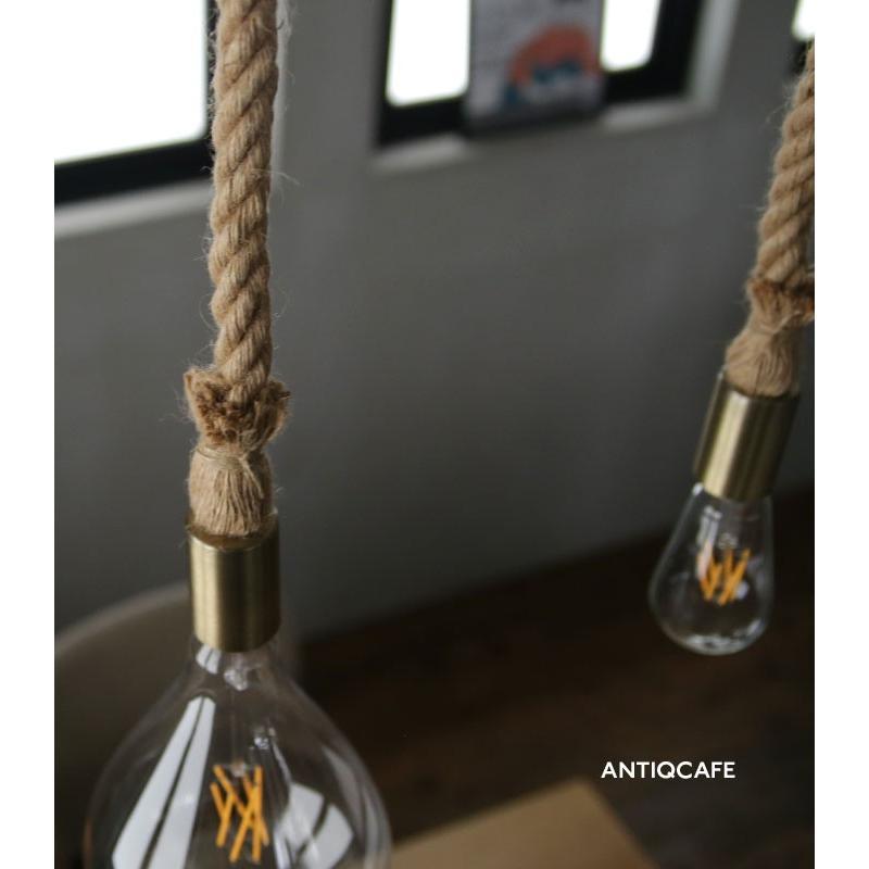 ダクトレール用 麻縄ロープ E26 1灯ペンダントライト LED対応 天井照明 アンティカフェ antiqcafe 09