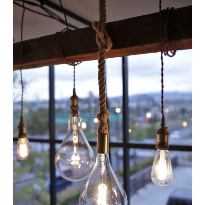 ダクトレール用 麻縄ロープ E26 1灯ペンダントライト LED対応 天井照明 アンティカフェ antiqcafe 10