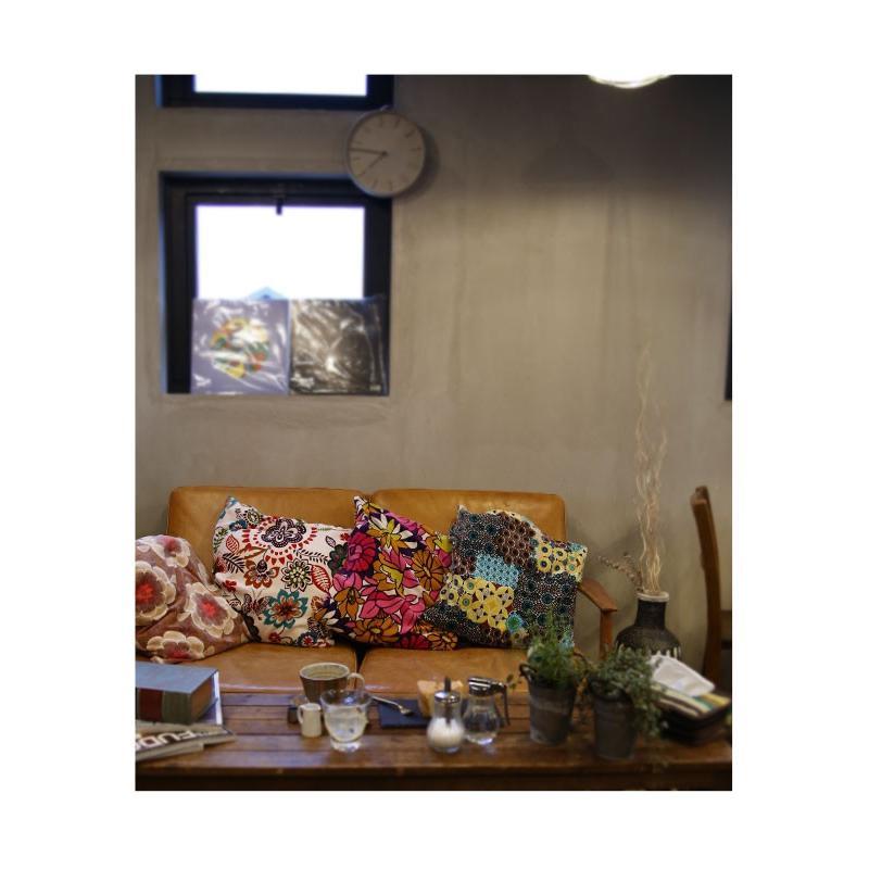 クッションカバー 46×46cm 花柄 アンティーク 北欧 四角形  アンティカフェ 45×45cm antiqcafe 10