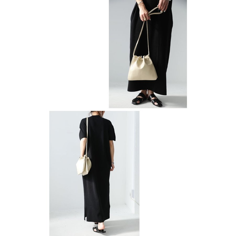 バッグ 鞄 フェイクレザー レディース ショルダーバッグ レザー巾着バッグ・再販。メール便不可|antiqua|12