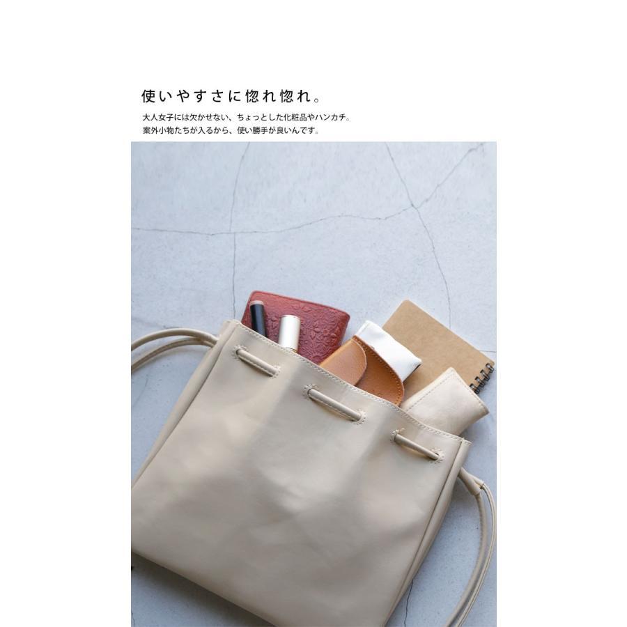 バッグ 鞄 フェイクレザー レディース ショルダーバッグ レザー巾着バッグ・再販。メール便不可|antiqua|06
