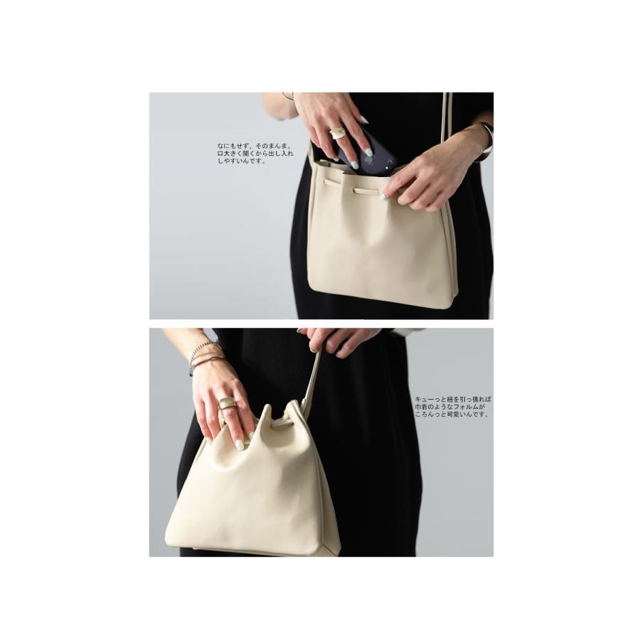 バッグ 鞄 フェイクレザー レディース ショルダーバッグ レザー巾着バッグ・再販。メール便不可|antiqua|07