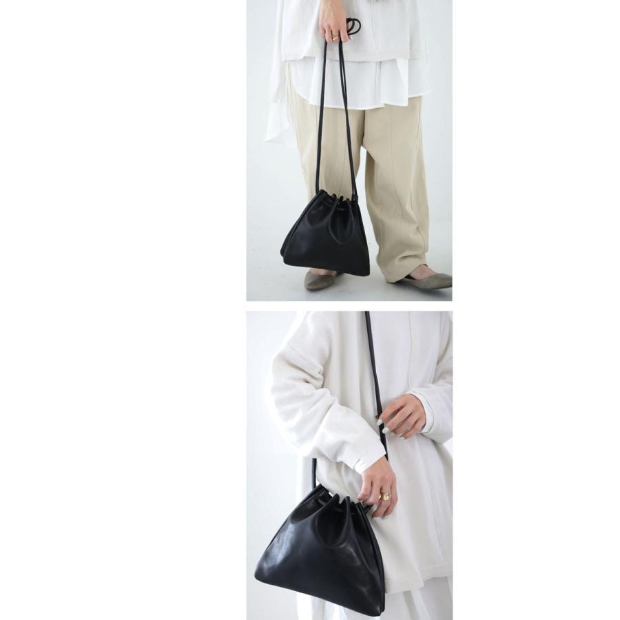 バッグ 鞄 フェイクレザー レディース ショルダーバッグ レザー巾着バッグ・再販。メール便不可|antiqua|09