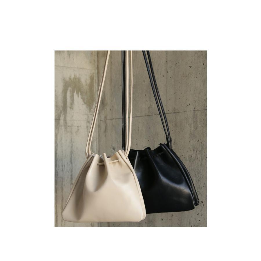バッグ 鞄 フェイクレザー レディース ショルダーバッグ レザー巾着バッグ・再販。メール便不可|antiqua|10