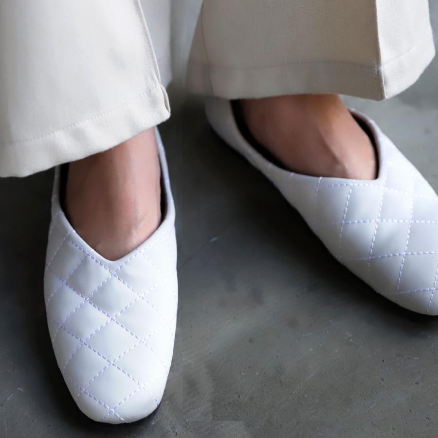 キルティングシューズ パンプス 痛くない 歩きやすい 靴・メール便不可 母の日|antiqua