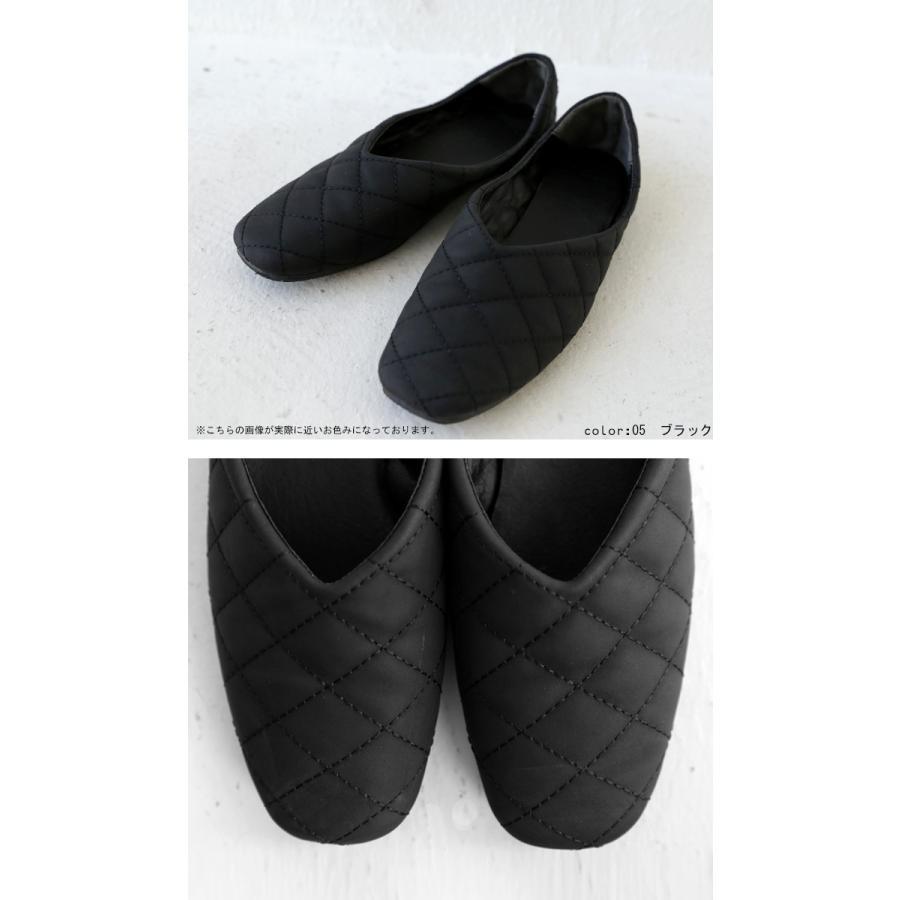 キルティングシューズ パンプス 痛くない 歩きやすい 靴・メール便不可 母の日|antiqua|13