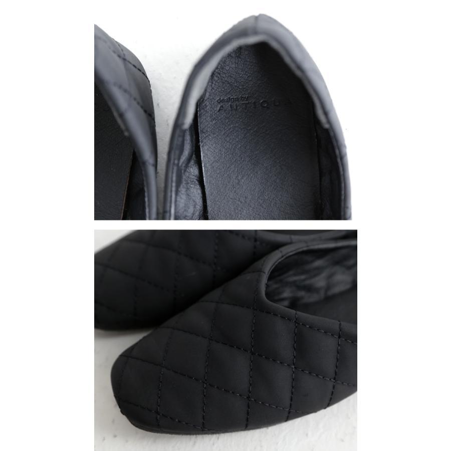 キルティングシューズ パンプス 痛くない 歩きやすい 靴・メール便不可 母の日|antiqua|15