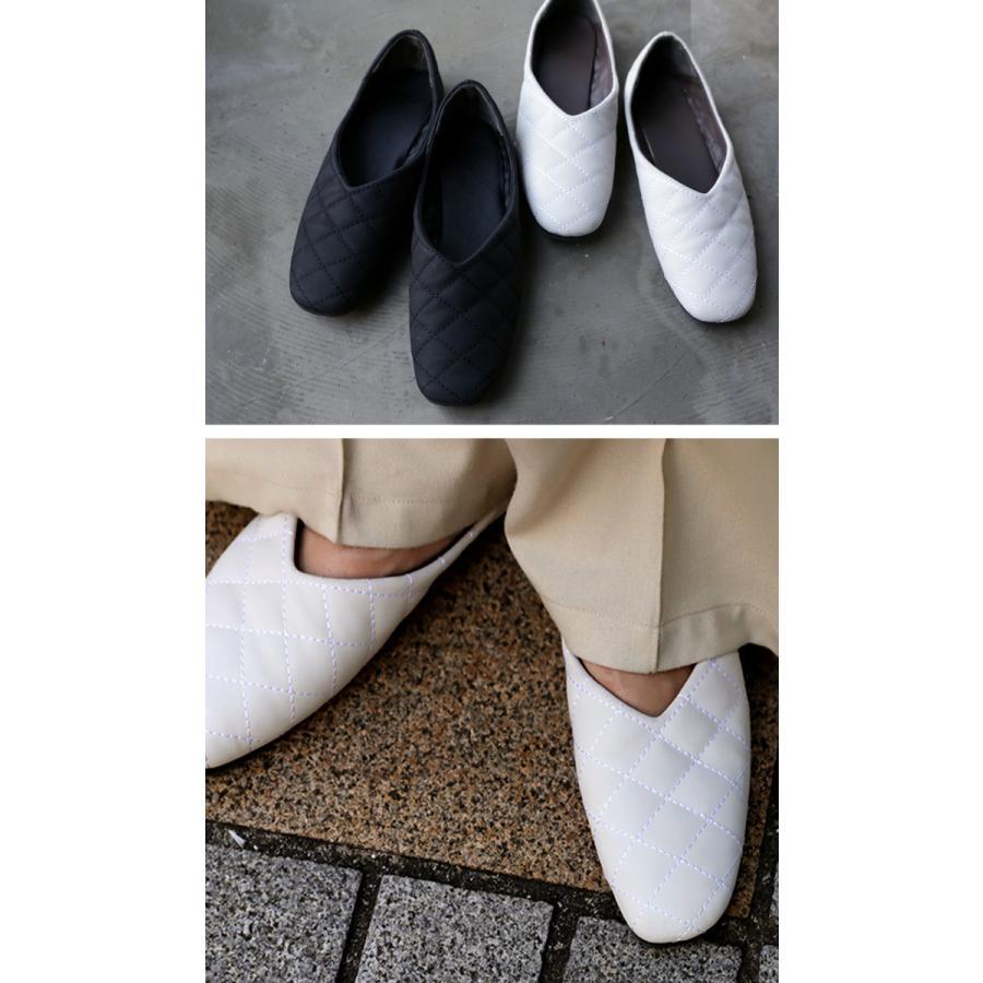 キルティングシューズ パンプス 痛くない 歩きやすい 靴・メール便不可 母の日|antiqua|03