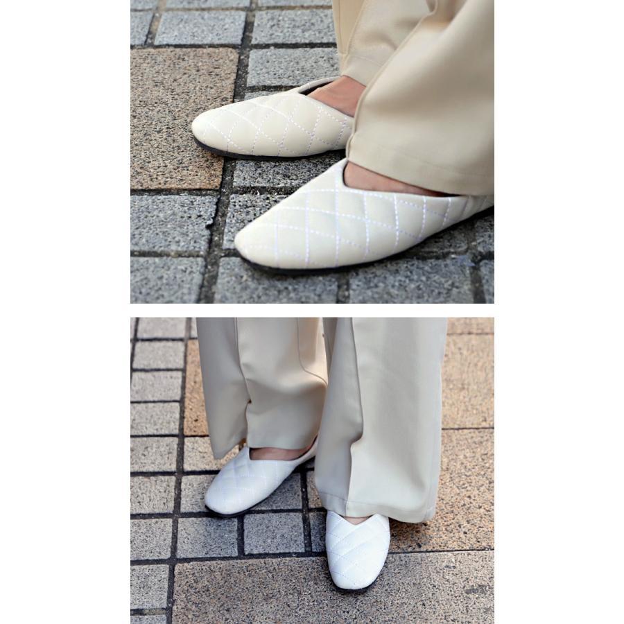 キルティングシューズ パンプス 痛くない 歩きやすい 靴・メール便不可 母の日|antiqua|05