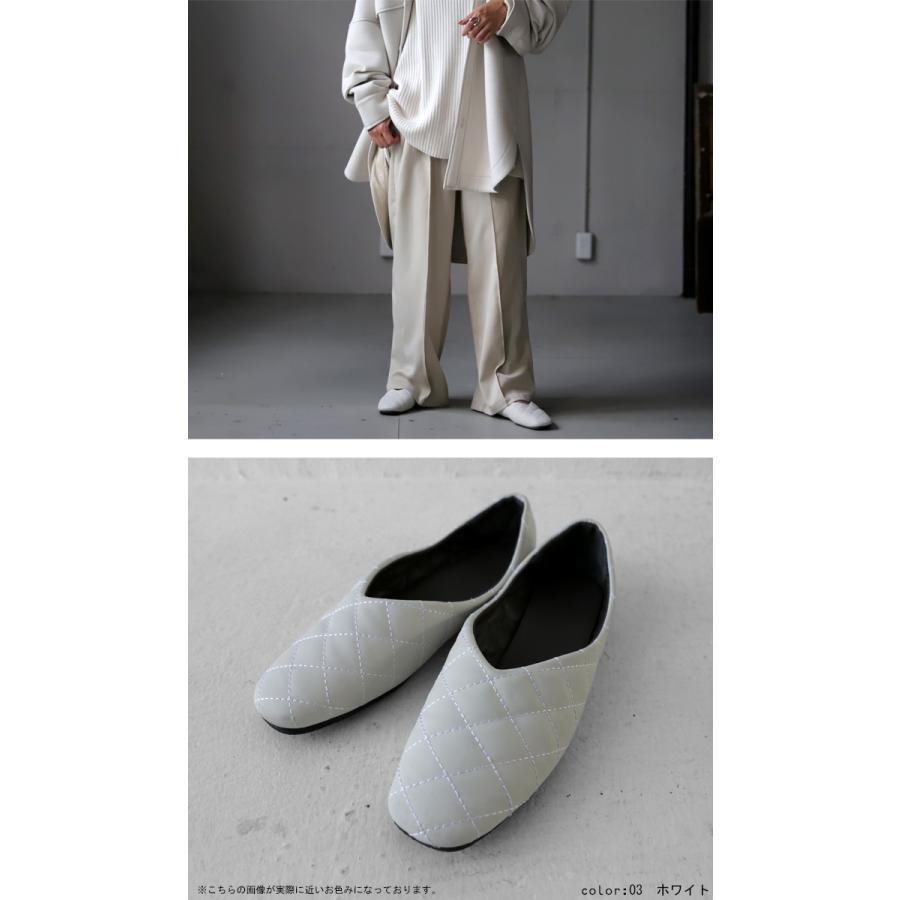 キルティングシューズ パンプス 痛くない 歩きやすい 靴・メール便不可 母の日|antiqua|08