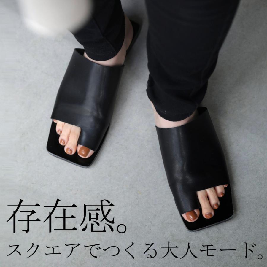 (予約:6月中〜下旬納期)スクエアサンダル サンダル 靴 レディース トングサンダル・5月10日0時〜メール便不可 母の日|antiqua