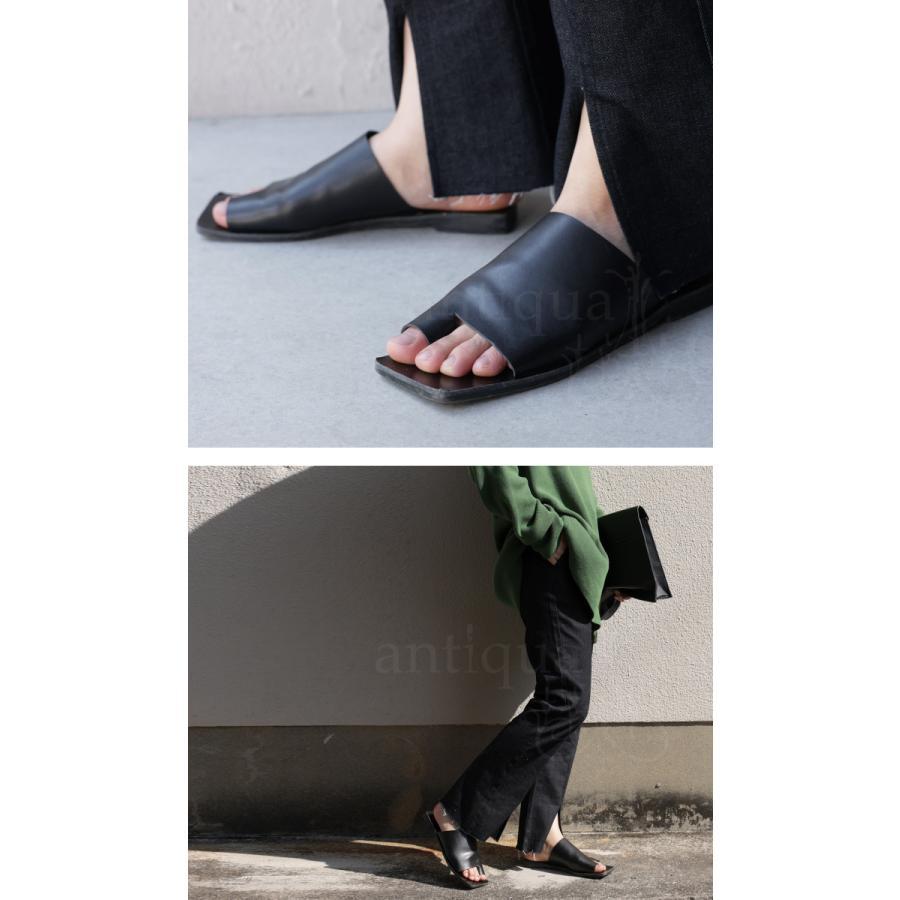 (予約:6月中〜下旬納期)スクエアサンダル サンダル 靴 レディース トングサンダル・5月10日0時〜メール便不可 母の日|antiqua|12