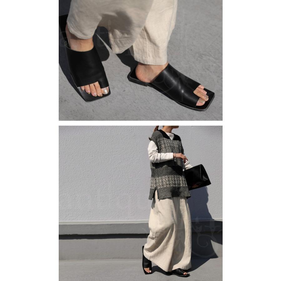 (予約:6月中〜下旬納期)スクエアサンダル サンダル 靴 レディース トングサンダル・5月10日0時〜メール便不可 母の日|antiqua|09