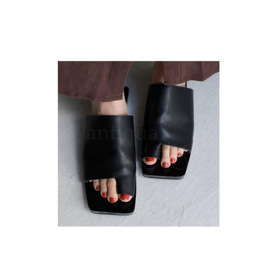 (予約:6月中〜下旬納期)スクエアサンダル サンダル 靴 レディース トングサンダル・5月10日0時〜メール便不可 母の日|antiqua|10