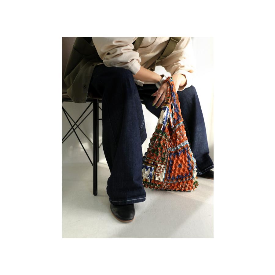 シワ加工 プリーツバッグ 鞄 手提げ エコバッグ 折りたたみ・8月14日10時〜発売。80ptメール便可|antiqua|04
