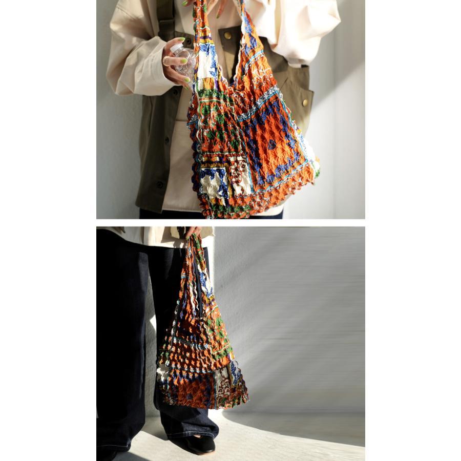 シワ加工 プリーツバッグ 鞄 手提げ エコバッグ 折りたたみ・8月14日10時〜発売。80ptメール便可|antiqua|05
