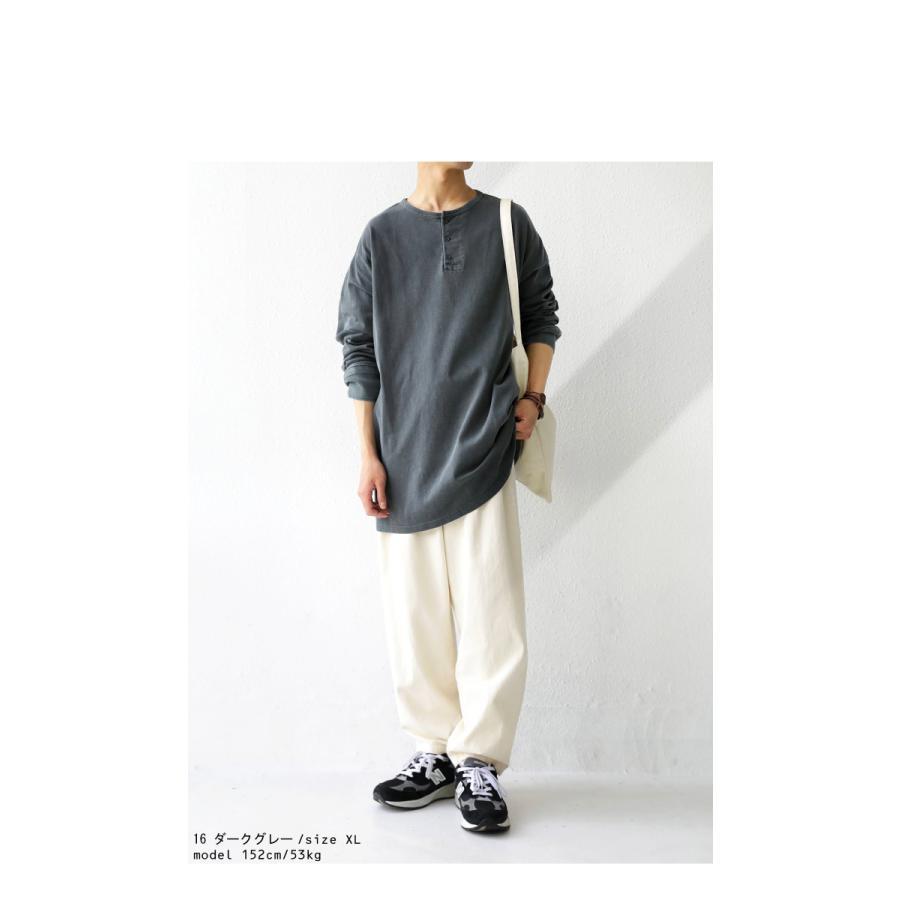 ヘンリーネックバスクT ロンT Tシャツ メンズ 長袖 綿・再再販。メール便不可 antiqua 12