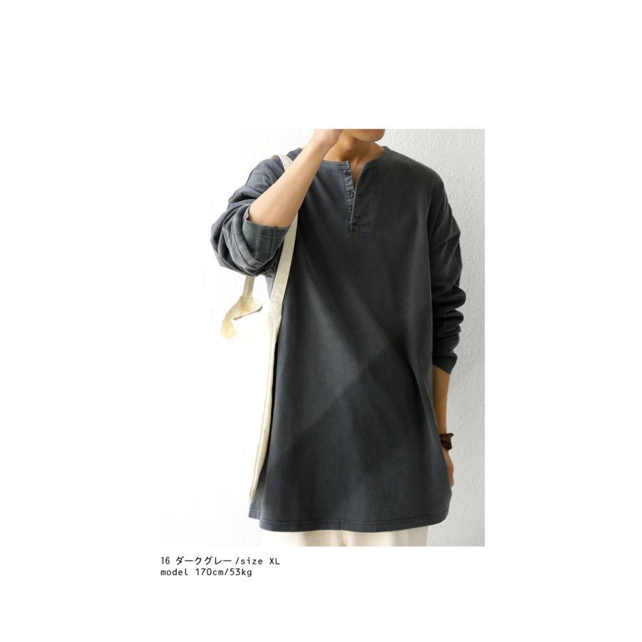 ヘンリーネックバスクT ロンT Tシャツ メンズ 長袖 綿・再再販。メール便不可 antiqua 14