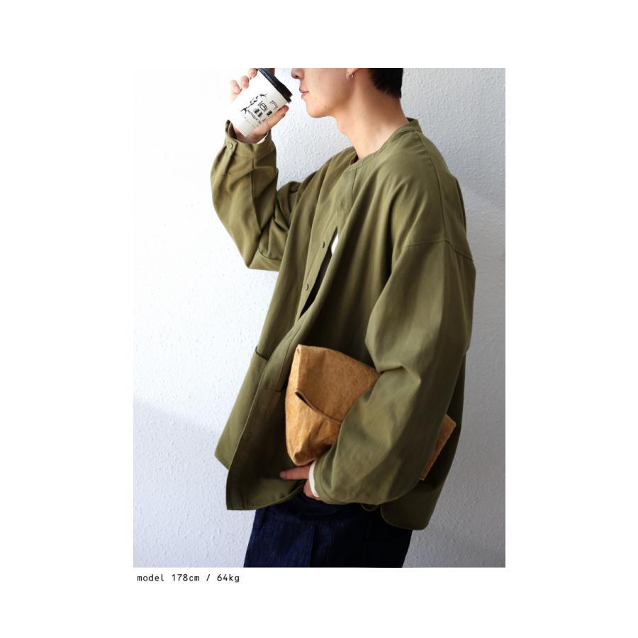 バンドカラーシャツ シャツ メンズ トップス 長袖 送料無料・9月24日10時〜発売。メール便不可 antiqua 11