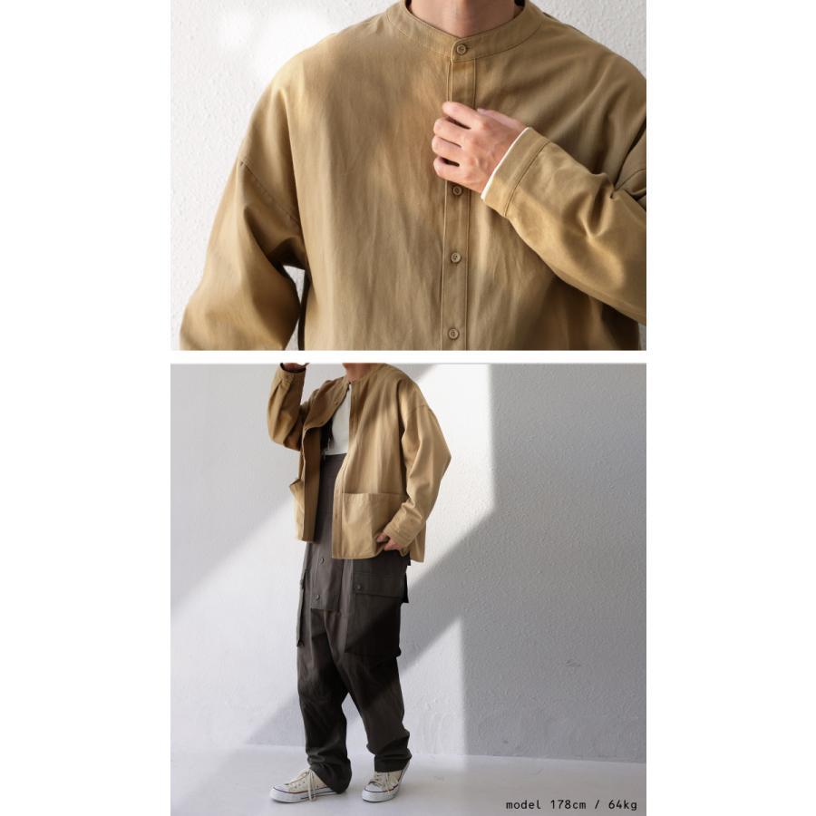 バンドカラーシャツ シャツ メンズ トップス 長袖 送料無料・9月24日10時〜発売。メール便不可 antiqua 13