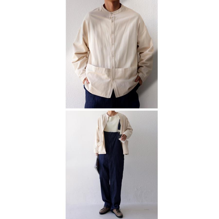バンドカラーシャツ シャツ メンズ トップス 長袖 送料無料・9月24日10時〜発売。メール便不可 antiqua 18