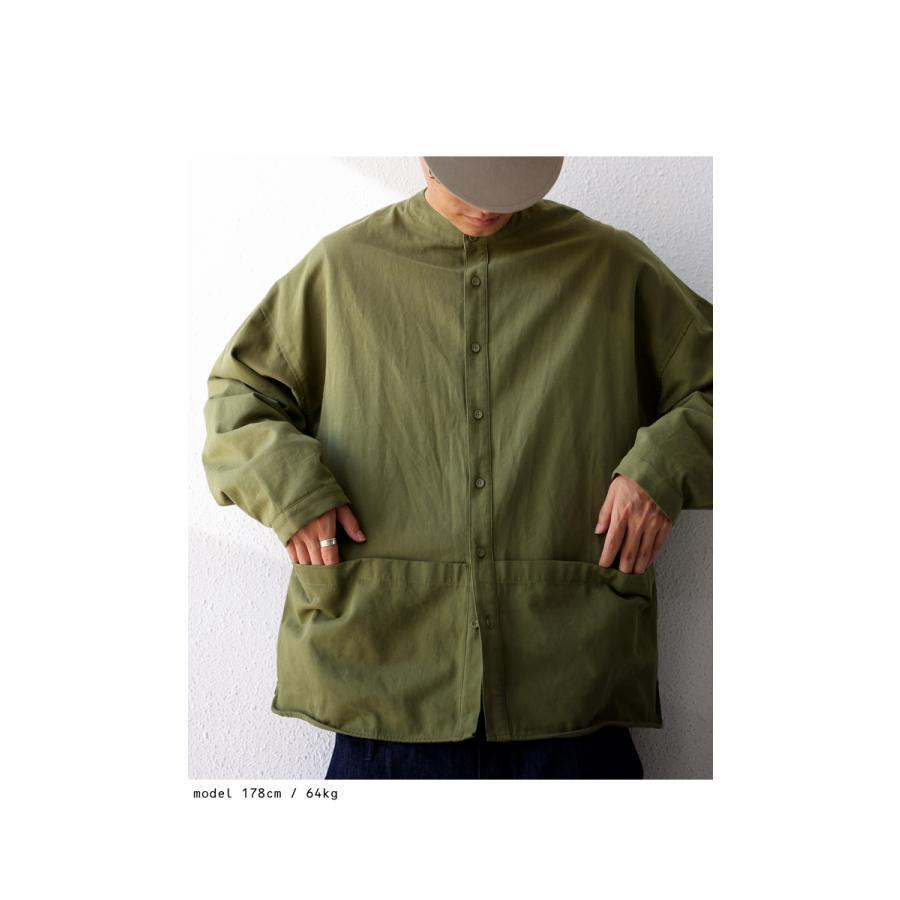 バンドカラーシャツ シャツ メンズ トップス 長袖 送料無料・9月24日10時〜発売。メール便不可 antiqua 03