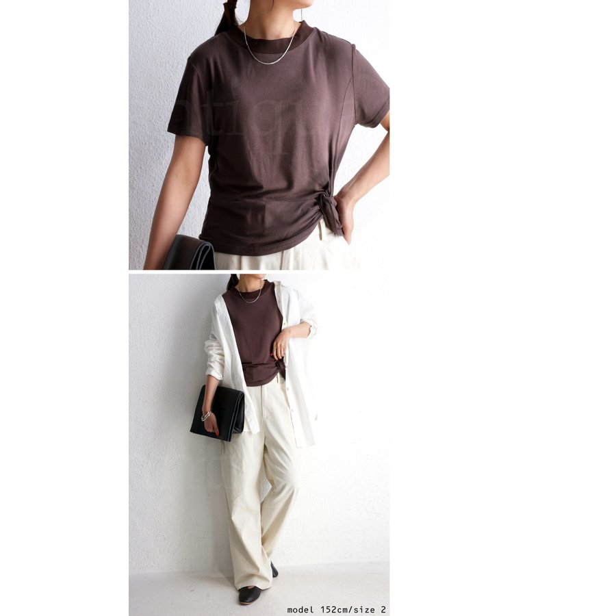 廣田なおさんプロデュース! モックネックウェア 半袖・再再販。メール便不可|antiqua|06