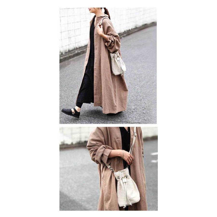 バッグ レディース 巾着 ショルダーバッグ ドロストバッグ リネン巾着バッグ・4月15日0時〜再販。メール便不可 母の日|antiqua|13