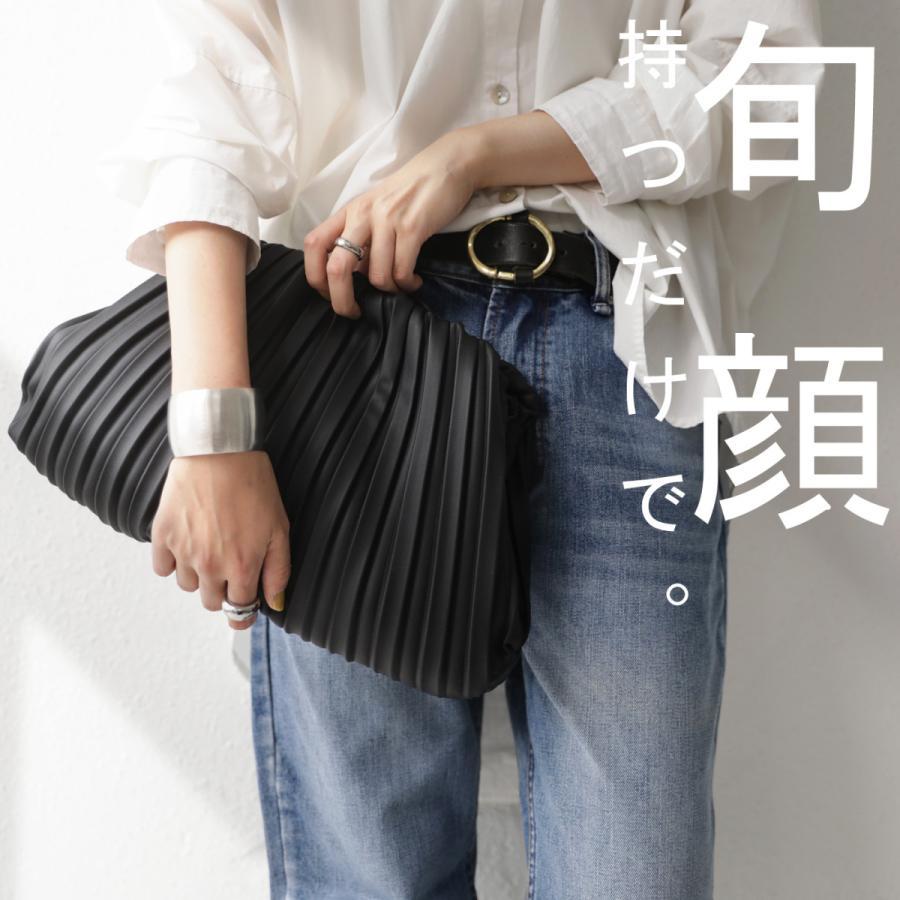 大人気商品!再入荷予定あり(再入荷ボタン登録でメールでお知らせ)プリーツバッグ クラッチバッグ バッグ レディース 鞄 送料無料・メール便不可 antiqua