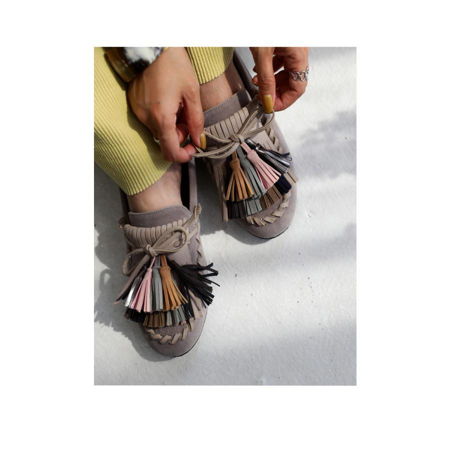 モカシン タッセル シューズ 靴 モカシンシューズ 送料無料。メール便不可 母の日 antiqua 05