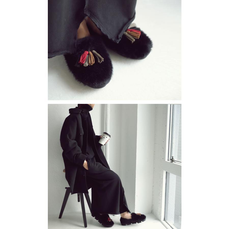 靴 モカシン ファー オリジナル タッセル付き極ふわファーシューズ 送料無料・再販。メール便不可|antiqua|13