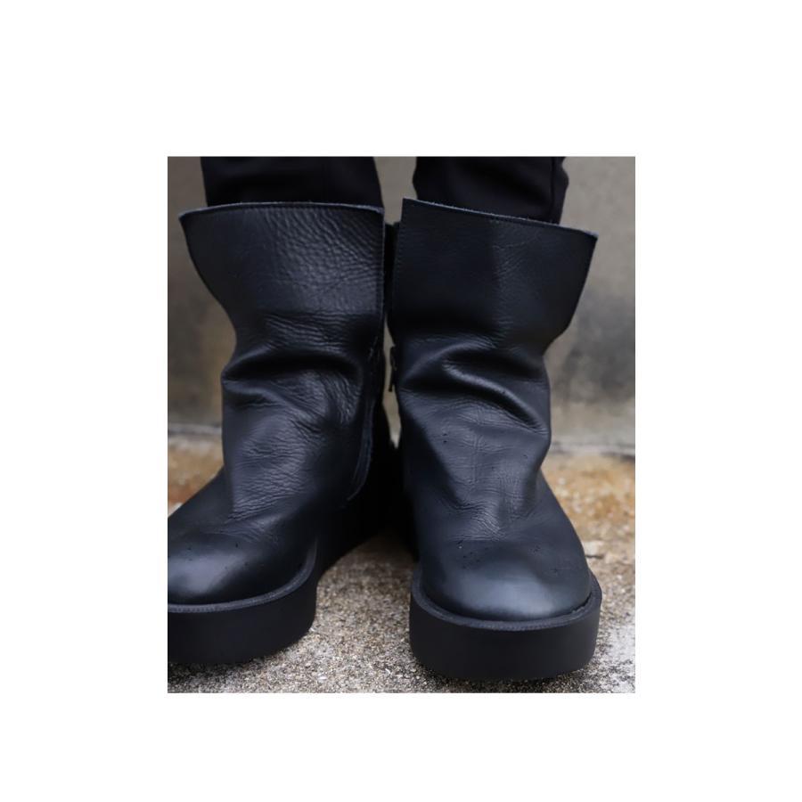 本革デザインブーツ ブーツ レディース 靴 日本製 送料無料・9月9日10時〜再再販。メール便不可|antiqua|03