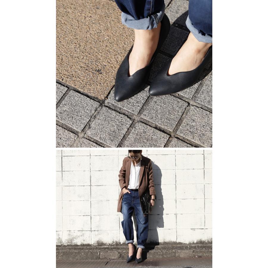 靴 合皮 パンプス オイル調 涙型 ティアドロップパンプス・再再販。メール便不可 母の日 antiqua 17
