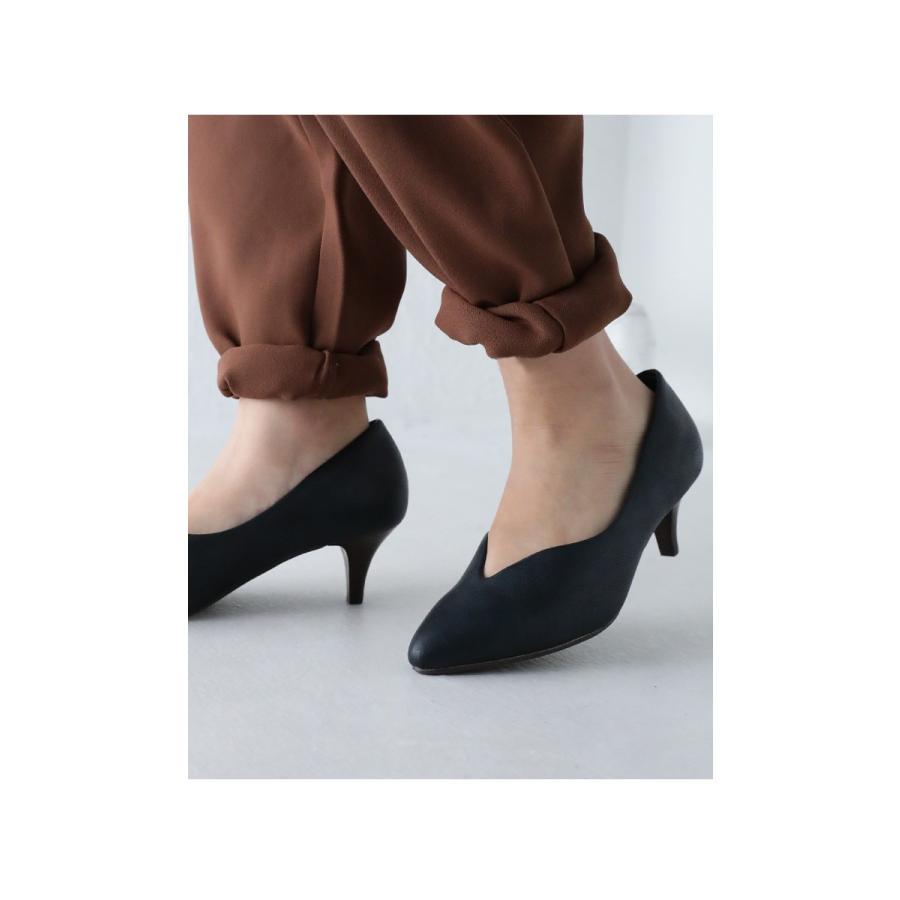 靴 合皮 パンプス オイル調 涙型 ティアドロップパンプス・再再販。メール便不可 母の日 antiqua 18