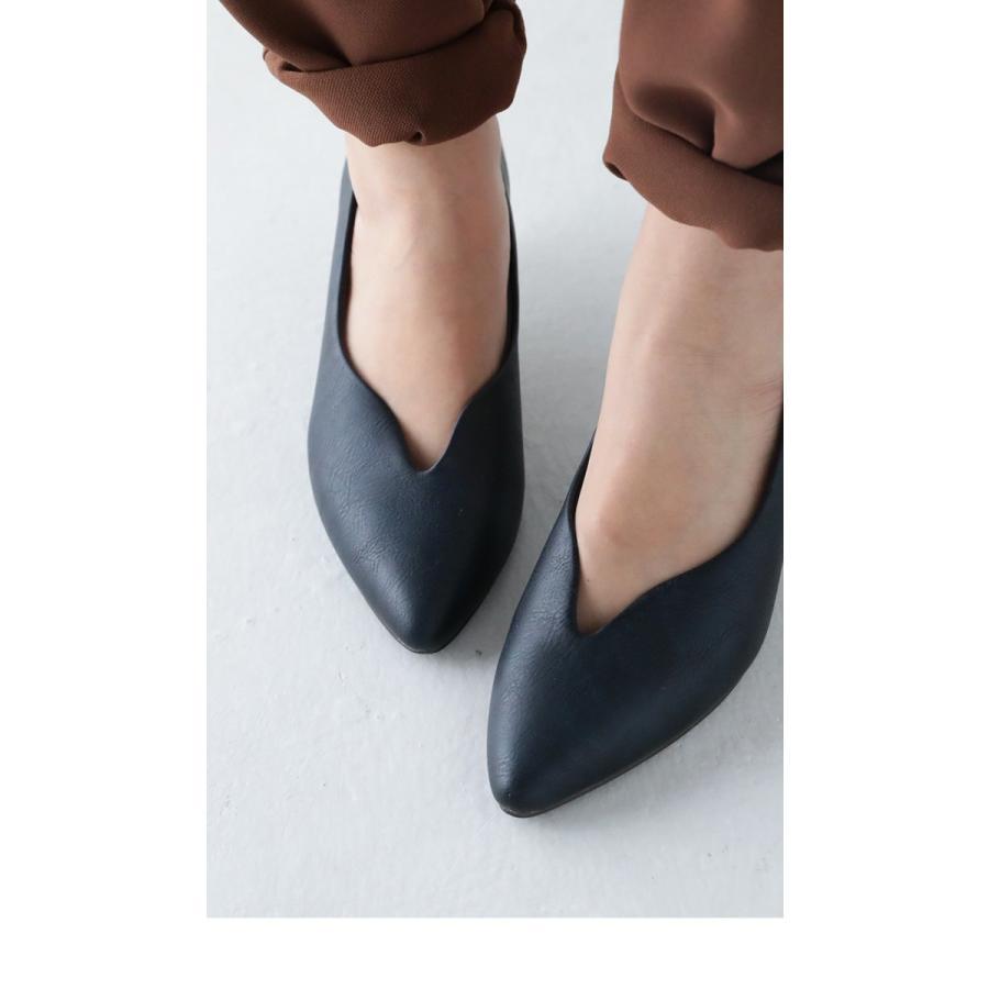 靴 合皮 パンプス オイル調 涙型 ティアドロップパンプス・再再販。メール便不可 母の日 antiqua 03